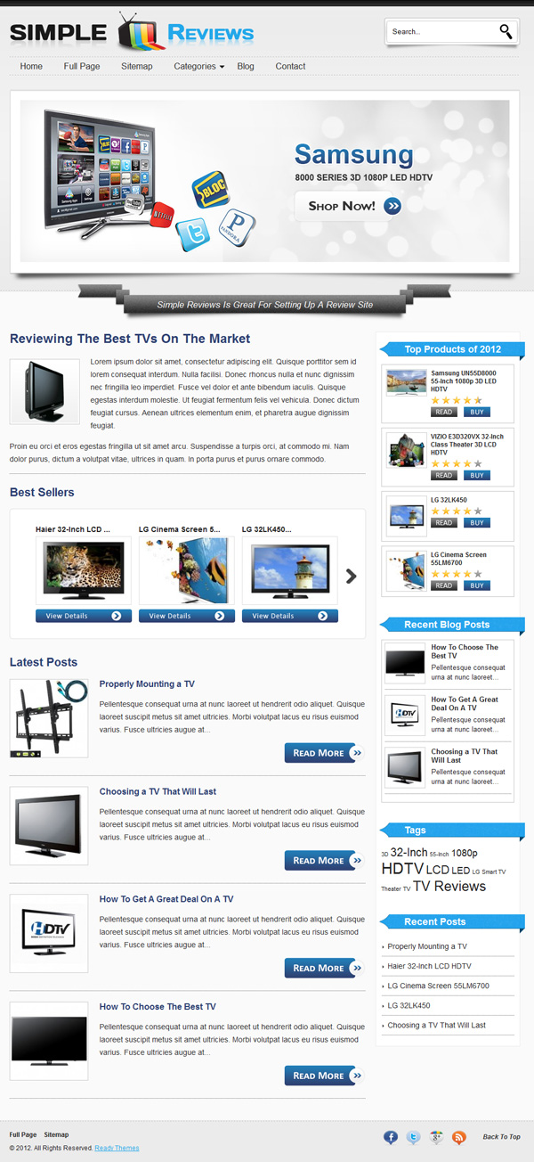Simple Reviews Theme For Product Reviews